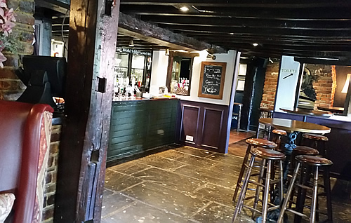 Interior redecoration of a village pub