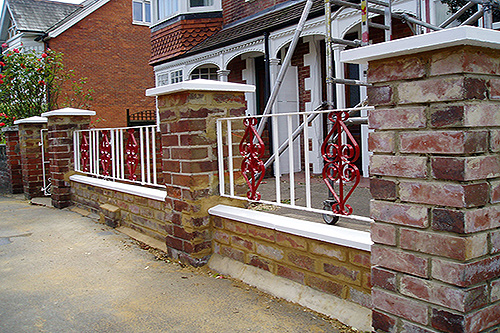 Wall and railings after works completed