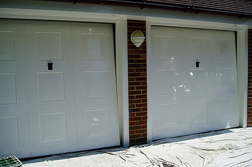 Garages after painting