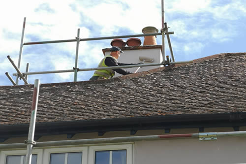 Repair and redecoration of chimney stacks