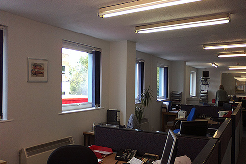 Interior redecoration to offices in Farnborough