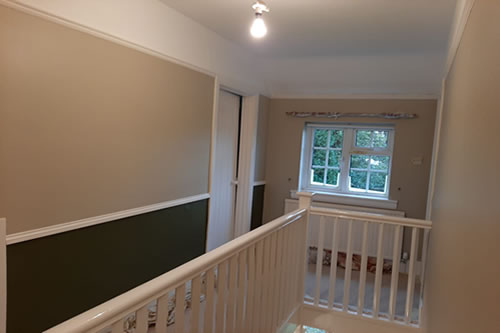 Hallway and Landing, designer wallpaper and paint.