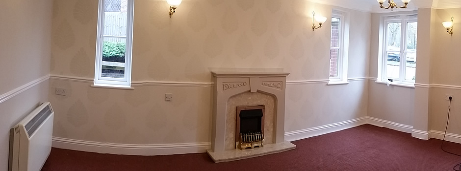 Work finished in communal lounge