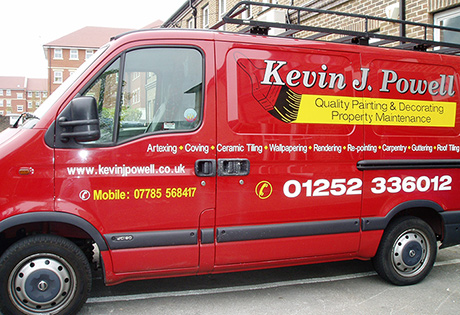 A Kevin J Powell works van
